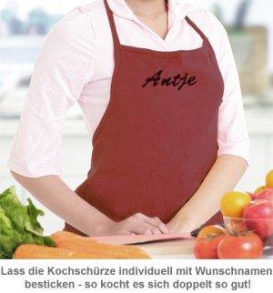 Kochschürze - individuell bestickt - 2