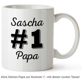 Personalisierte Tasse - Nummer 1 Papa - 2