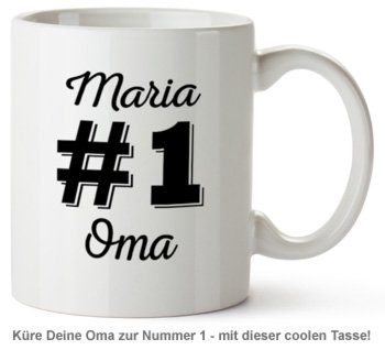 Personalisierte Tasse - Nummer 1 Oma - 2