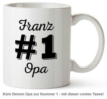Personalisierte Tasse - Nummer 1 Opa - 2