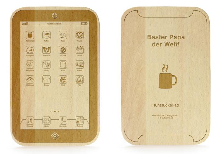 FrühstücksPad mit Gravur - Bester Papa - 2