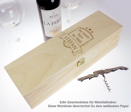 Personalisierte Weinkiste - Bester Papa - 2