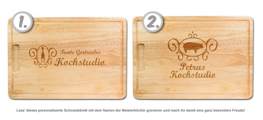 Meisterköchin - personalisiertes Schneidebrett - 2