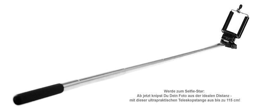 Selfie Stick - Ausziehbare Handyhalterung bis 60 cm - 2