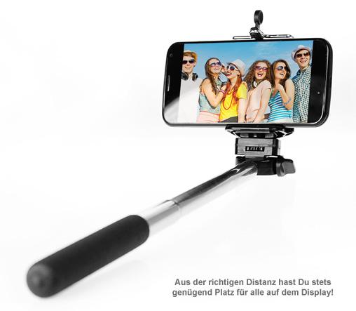 Selfie Stick - Ausziehbare Handyhalterung bis 60 cm - 3