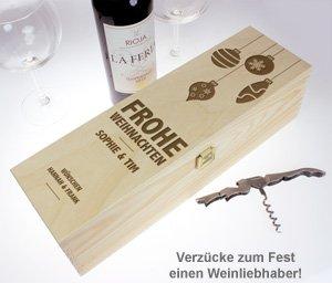 Personalisierte Weinkiste - Weihnachten - 3