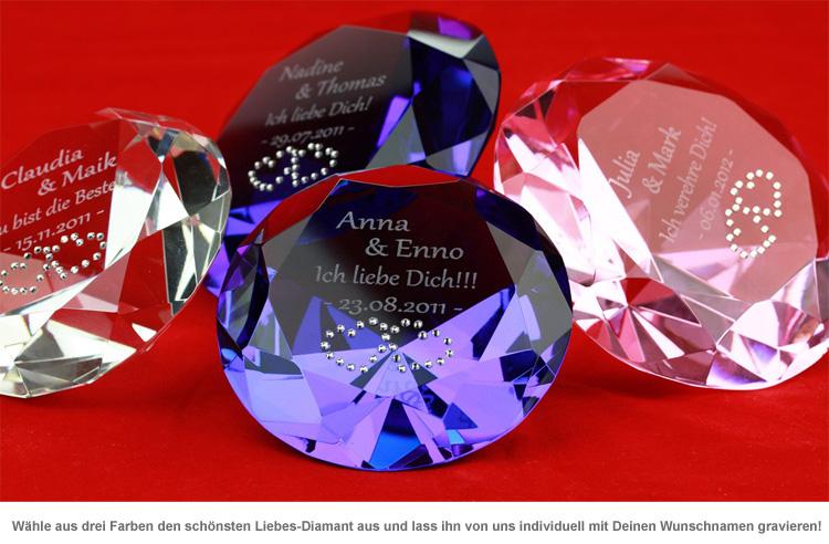 Liebes-Diamant mit Gravur - 2