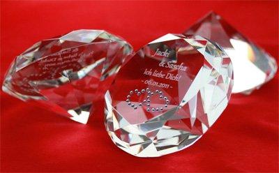 Liebes-Diamant mit Gravur - 3