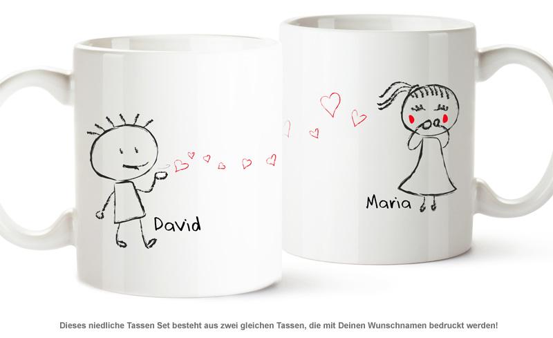 Personalisiertes Tassen Set - Liebespaar - 2
