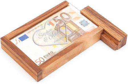 Magische Geldgeschenkbox - Herz Gravur - 4