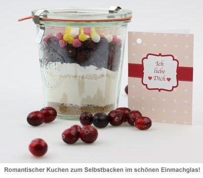 Kuchen im Glas - Ich liebe dich - Backmischung - 2