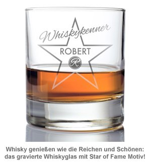 Personalisiertes Whiskyglas - Star of Fame - 2