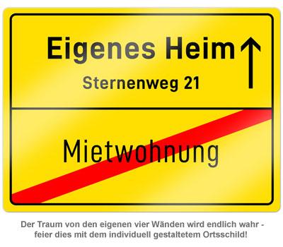 Personalisiertes Ortsschild - Eigenes Heim - 2