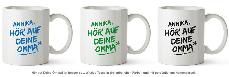 Personalisierte Tasse - Hör auf Deine Omma - 2