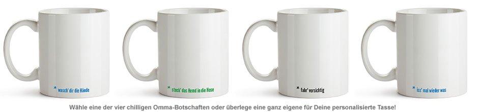 Personalisierte Tasse - Hör auf Deine Omma - 3