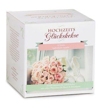 hochzeits gl ckskekse geschenkbox mit 12 tollen liebesbotschaften. Black Bedroom Furniture Sets. Home Design Ideas