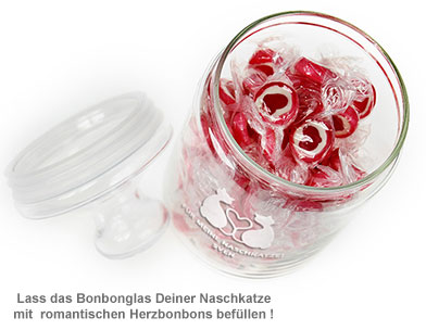 Bonbonglas mit Gravur - Naschkatze - 2