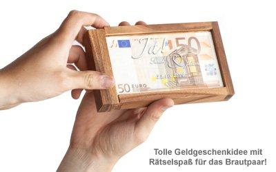 Magische Geldgeschenkbox - Jawort Gravur - 2