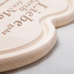 Graviertes Holzherz zur Hochzeit - mit Liebesspruch - 3