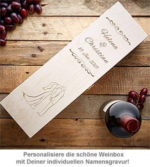 Personalisierte Weinkiste zur Hochzeit - Silhouette - 2