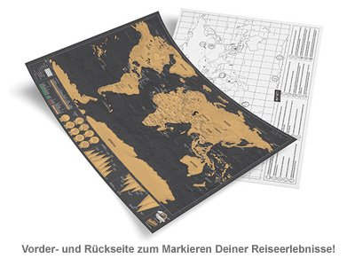 Scratch Map Deluxe im Reiseformat - 2