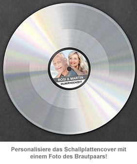Schallplatte -  personalisiert zur Silbernen Hochzeit - 2
