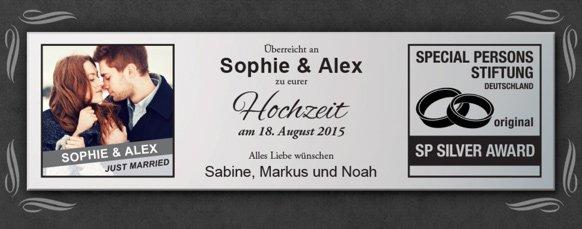 Silberne Schallplatte - Hochzeitsbild - 3