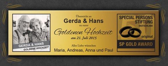 Schallplatte - personalisiert zur Goldenen Hochzeit - 3