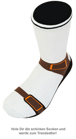 Socken in Sandalen Optik - 2