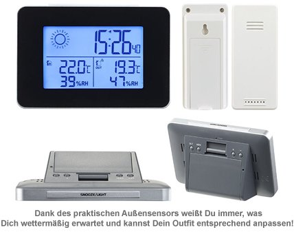 Funkwetterstation Deluxe mit Außensensor - 3