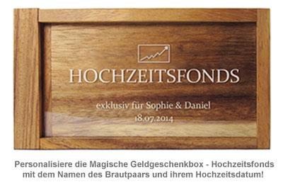Magische Geldgeschenkbox - Hochzeitsfonds - 3