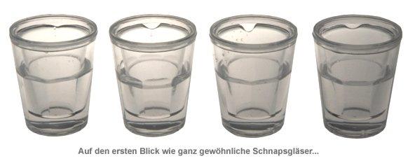Doppelwandige Kühl Schnapsgläser - 4er Set - 2
