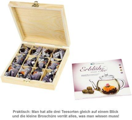 Erblühtee in edler Holzbox zur Hochzeit - Schwarztee - 3