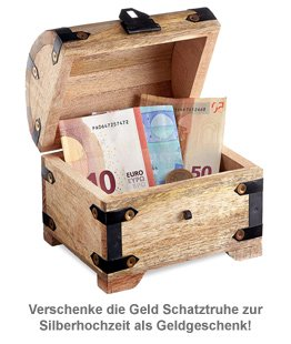 Geld Schatztruhe zur Silberhochzeit - 2