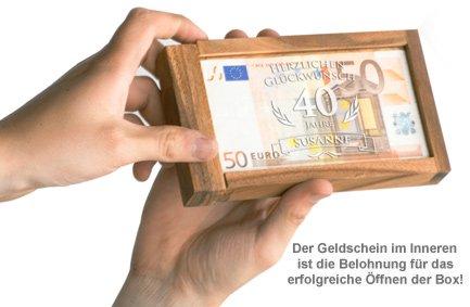 Magische Geldgeschenkbox Zum Geburtstag Witziges Knobelgeschenk