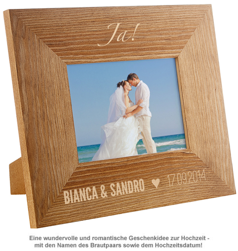 Personalisierter Bilderrahmen zur Hochzeit - Jawort - 2