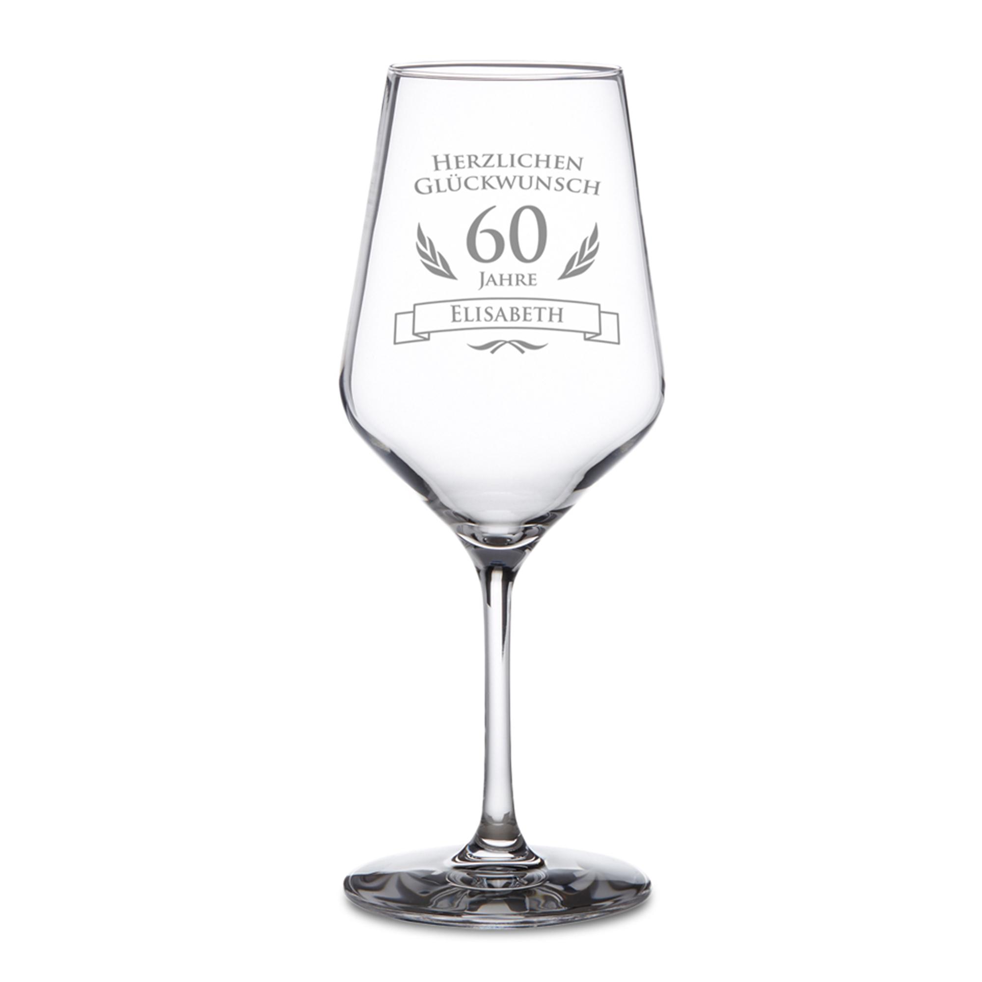 Weißweinglas zum 60. Geburtstag - 2