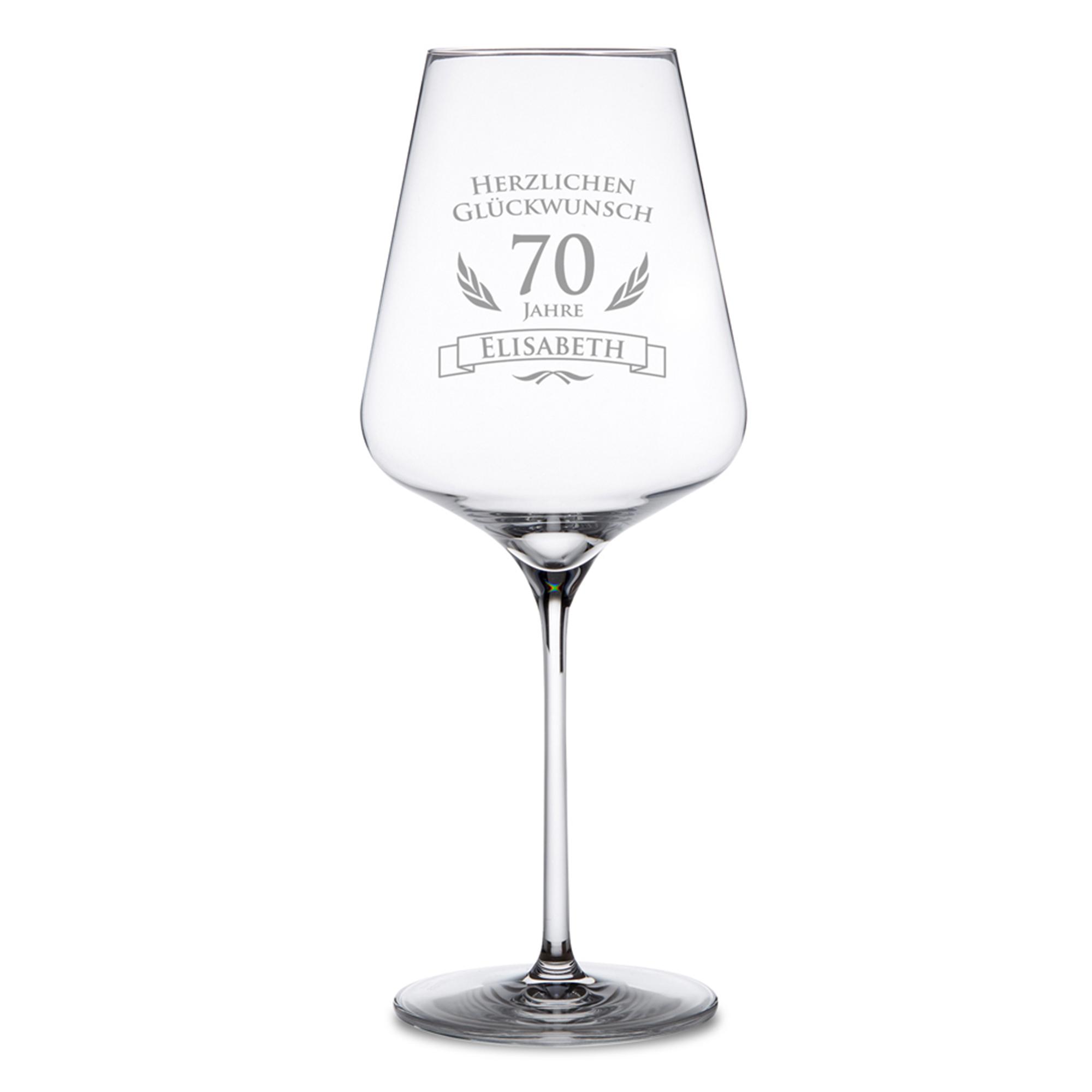 Weinglas zum 70. Geburtstag - 2