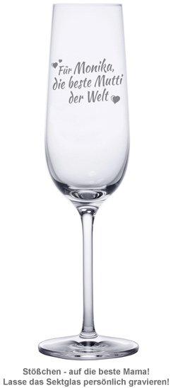 Sektglas mit Gravur - Beste Mama - 2
