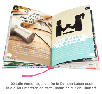 Buch 100 dinge die frau getan haben muss lustige ziele for Nur 100 dinge besitzen
