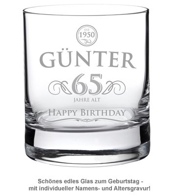 Whiskyglas zum Geburtstag - Elegant - 2