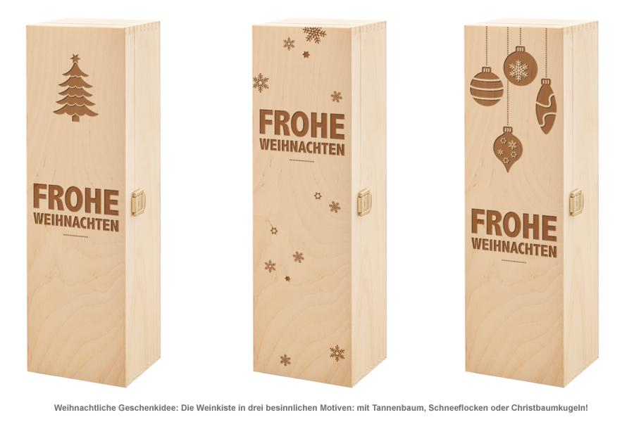 Edle Weinkiste - mit Weihnachtsgravur - 2