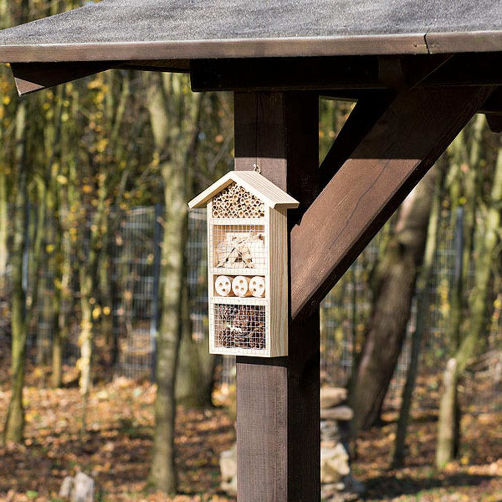 Insektenhotel mit Vogelschutz - 2