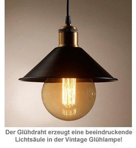 Vintage Glühbirne mit Glühdraht - gewölbt - 2