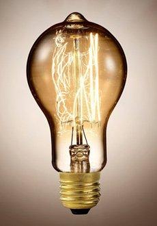Vintage Glühbirne mit Glühdraht - gewölbt - 3