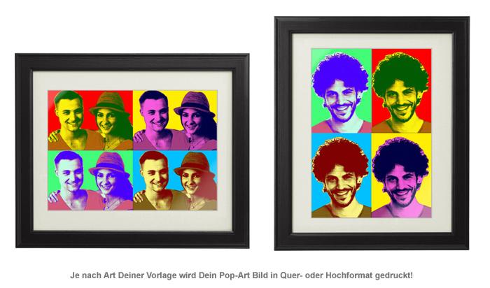 Personalisiertes Pop-Art Bild für Paare - 2