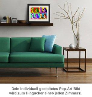 Personalisiertes Pop-Art Bild für Paare - 3