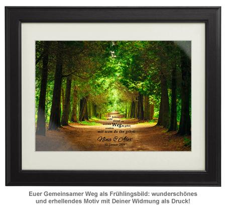 Gemeinsamer Weg Frühlingsbild - personalisiert - 2