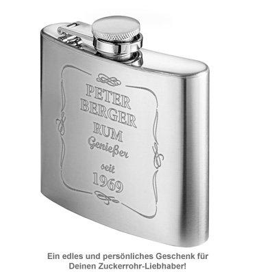 Flachmann mit Gravur - Rum Genießer - 2