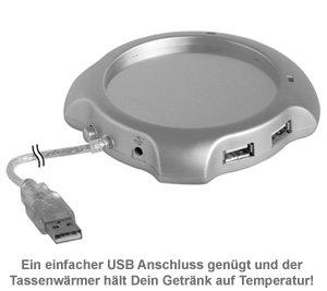USB Tassenwärmer mit USB-Hub - 2